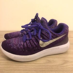 Purple Nike Lunarlon Sneakers